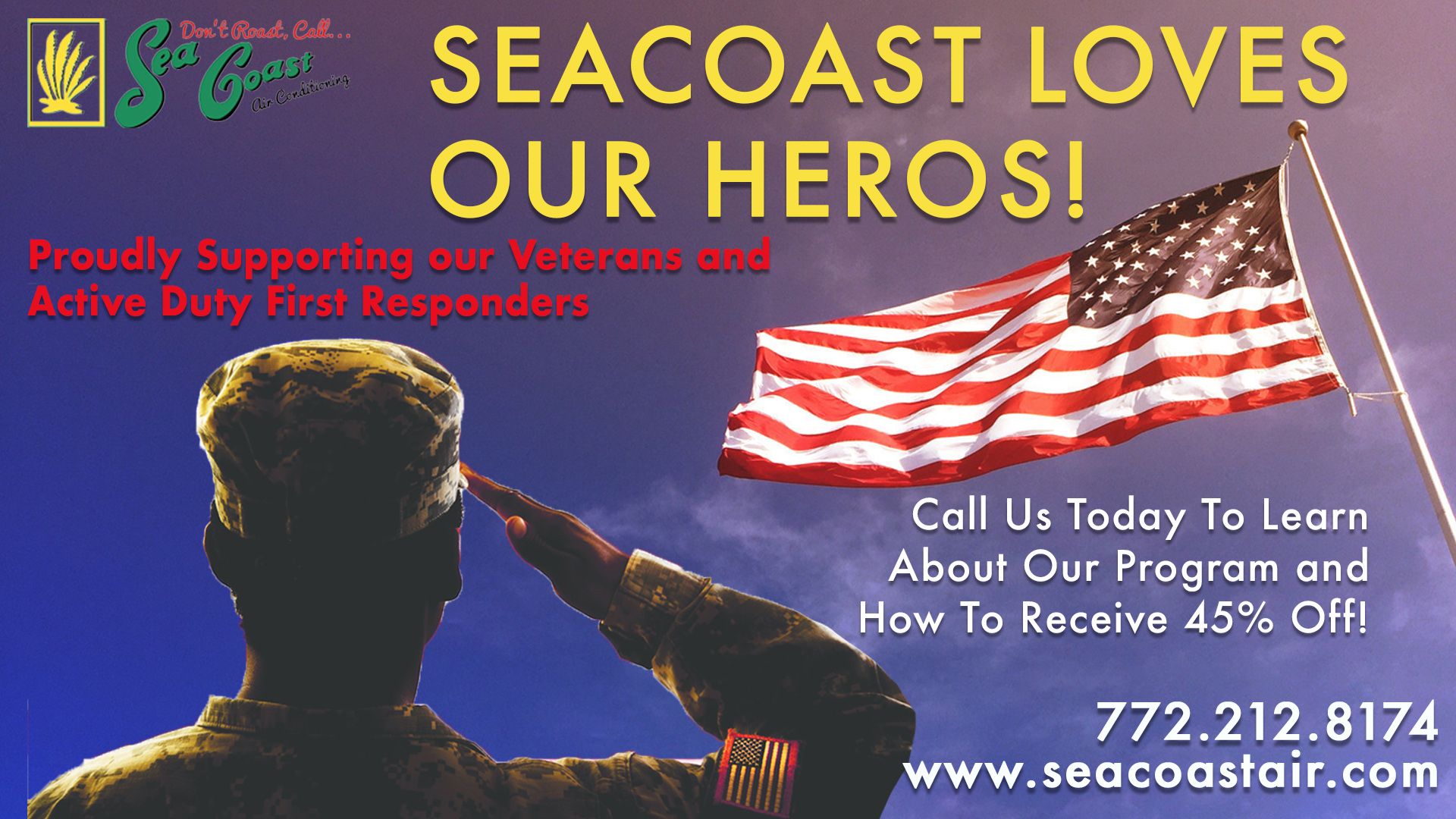 Sea Coast Supports Veterans Discount Florida